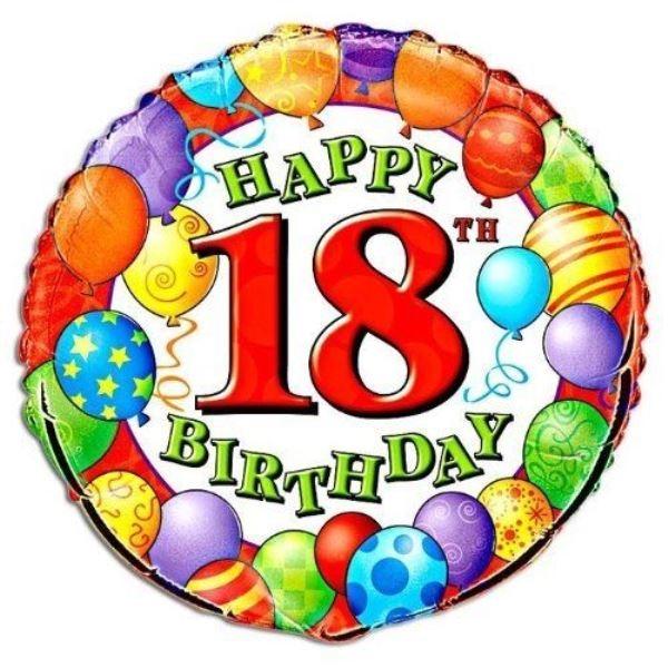 18 år Happy Birthday ballon 18 år | Flotte folieballoner | Tivoli balloner 18 år