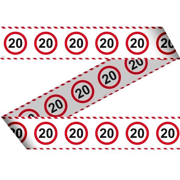 Markeringsbånd 20 år | Rund fødselsdag | Trafikbånd 20 år
