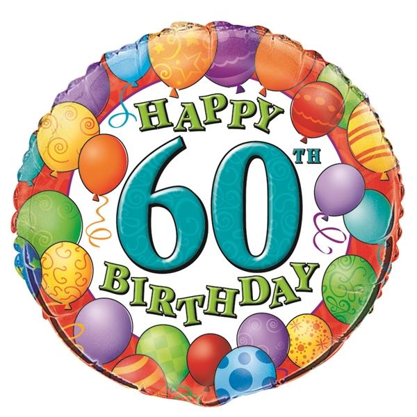 60 år Happy Birthday ballon 60 år | Flotte folieballoner | Tivoliballoner 60 år