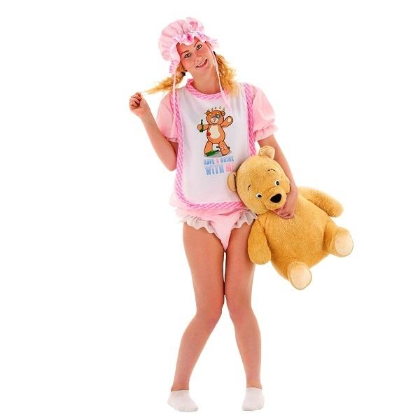 Pige Baby Kostume | Bliv klædt ud som en voksen baby