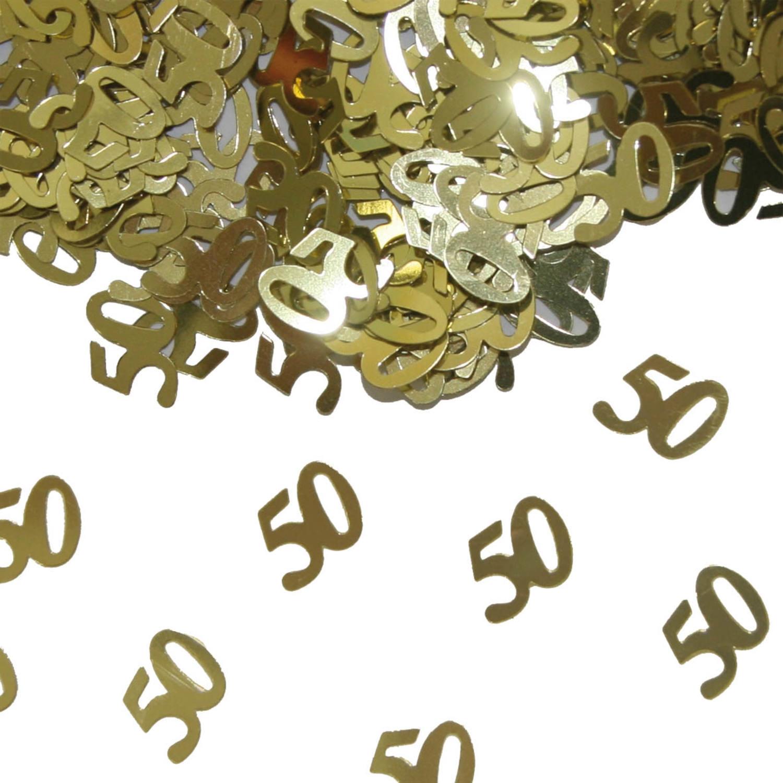 191731ff Guldbryllup Bord Konfetti i guld ⇒ Bordkonfetti til Guldbryllup 50 ...