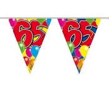 65 års fest Flag banner 65 år | Flagguirlande til 65 års fødselsdag | Fest pynt 65 års fest