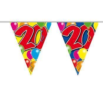 Flag banner 20 år | Flot og festligt pynt til 20 års