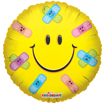 Smiley ballon med plaster