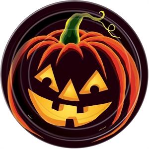 Haqppy Halloween tallerkner | Sorte og orange tallerkner | HAlloween