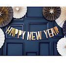 Happy New Year banner i guld