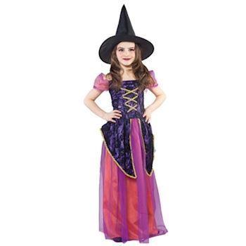 Violet hekse | Heksekjole Halloween | Køb billige børne udklædninger