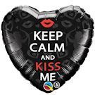 keep calm and kiss me ballon