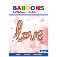 Romantisk Love folieballon i Rose Gold