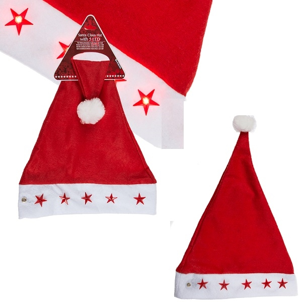 ba1b2828f552 Nissehue med lys ⇒ Jul i Partybutikken.dk ✓